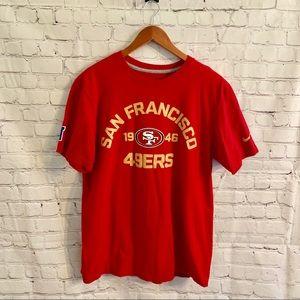 Nike San Francisco 49ers T-shirt Size Large